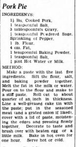 Third pork pie recipe
