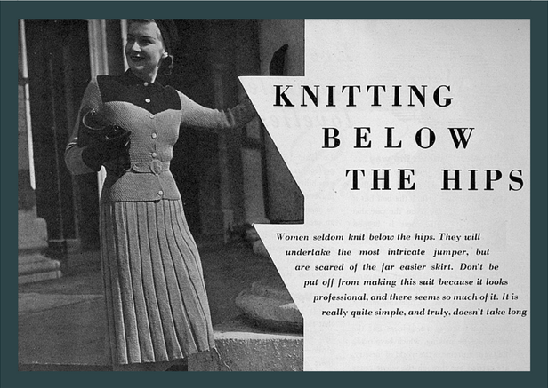 knitting below the hips