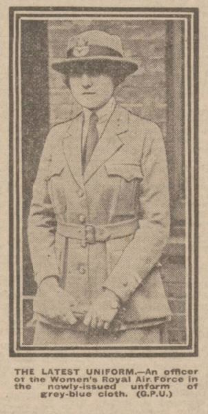Women's Royal Air Force uniform 1918