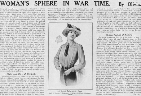 woman's sphere in war time