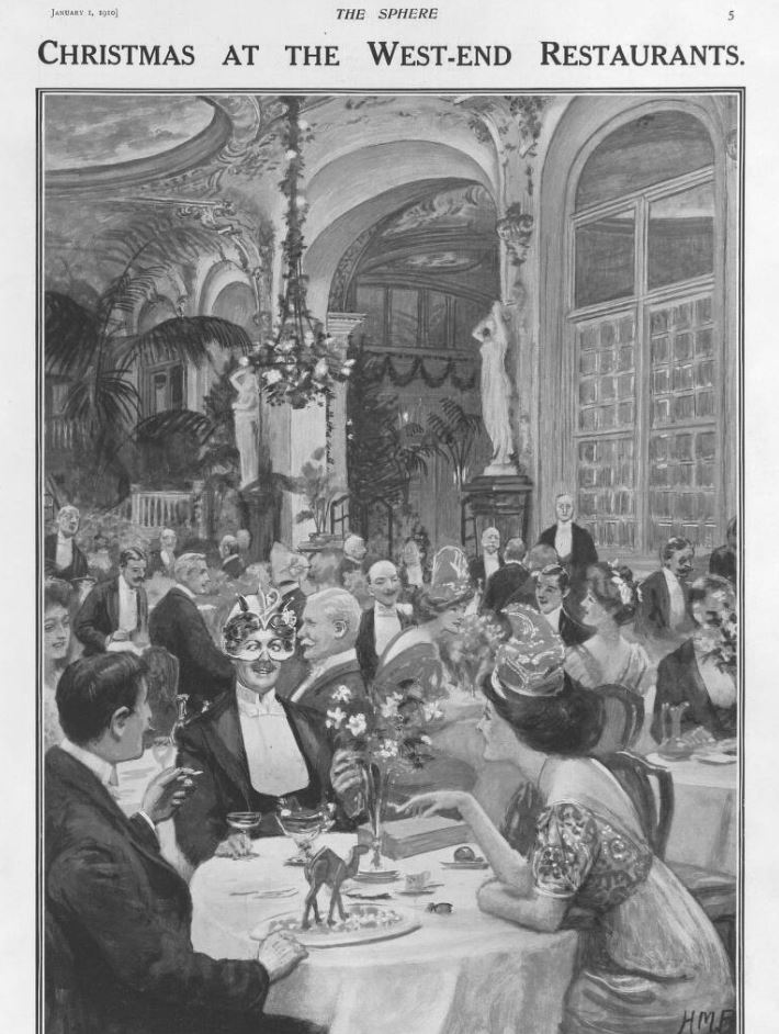 WEst End Restaurant Chirstmas 1910