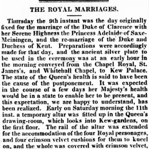 William IV wedding