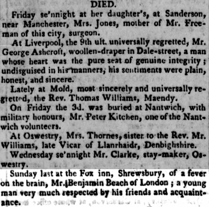 Chester Chronicle death