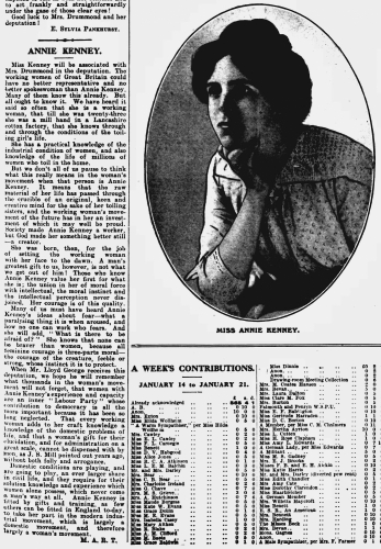 "<a href=""https://www.britishnewspaperarchive.co.uk/viewer/bl/0002188/19130124/058/0009""><em>The Suffragette</em></a>"